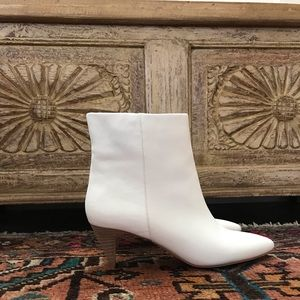 Brand New Dolce Vita white leather booties